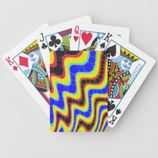 Florescent Retro Abstract Pattern Bicycle Playing Cards