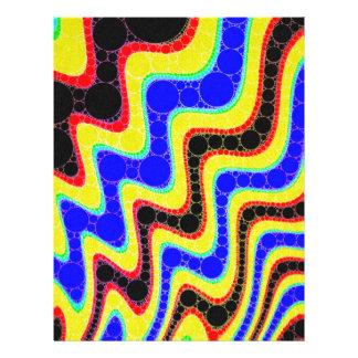 Florescent Retro Abstract Pattern Letterhead