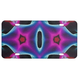Florescent Smoker Abstract License Plate