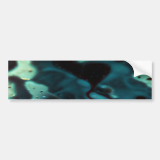 Florescent swirling green pool bumper sticker