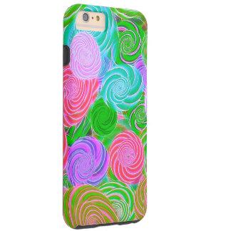Florescent Swirls Tough iPhone 6 Plus Case