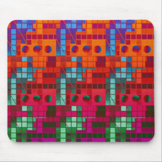 Florescent Tiled Abstract Mouse Pad