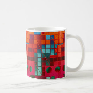 Florescent Tiled Abstract Classic White Coffee Mug