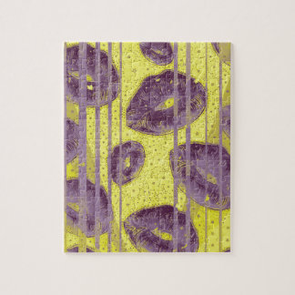 Florescent Yellow Lavender Lips Jigsaw Puzzle