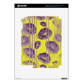 Florescent Yellow Lavender Lips Skins For iPad 3