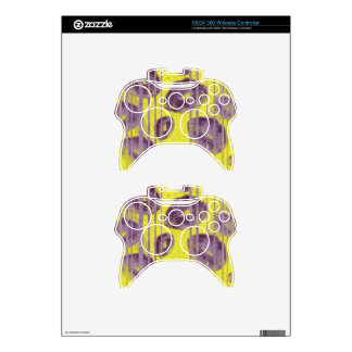 Florescent Yellow Lavender Lips Xbox 360 Controller Skin