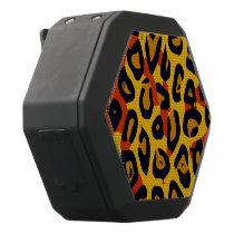 Florescent Yellow Orange Vector Cheetah Black Bluetooth Speaker