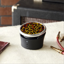 Florescent Yellow Orange Vector Cheetah Bluetooth Speaker