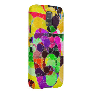 Florescent Yellow Pink Abstract Galaxy S5 Cover
