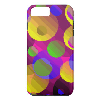 Florescent Yellow Pink Blue Abstract iPhone 8 Plus/7 Plus Case