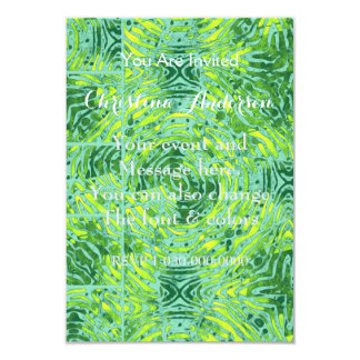 Florescent Yellow Turquoise Zebra Card
