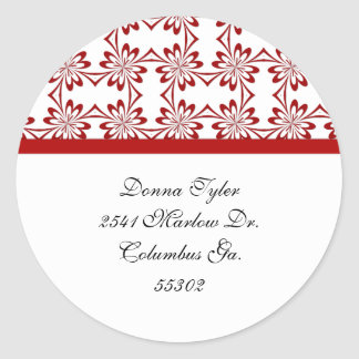 Floret with Red Trim Address Stickers