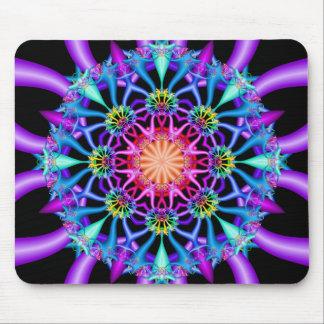 Floretes del arco iris del caleidoscopio del alfombrillas de ratones