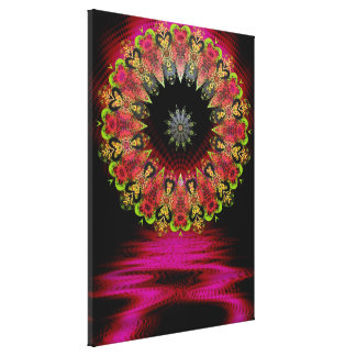 Floretiana Psychedelic Love Art  Wrapped Canvas