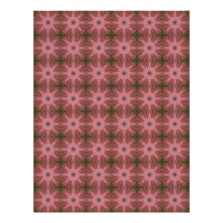 Florets Pattern in Pink and Green Letterhead