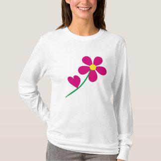 florezca el amor floral, jardín, naturaleza, playera