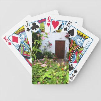 Florezca el jardín llenado en Chania Creta Grecia Baraja De Cartas