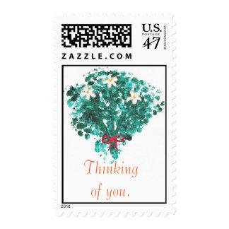 Florezca el ramo, pensando en usted, los sellos