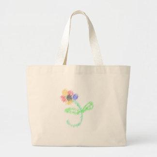 florezca los artes abstractos bolsas de mano