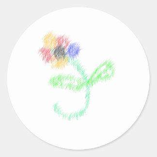 florezca los artes abstractos pegatina redonda