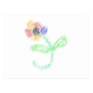 florezca los artes abstractos postal
