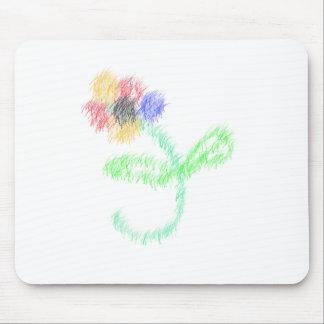 florezca los artes abstractos tapete de ratones