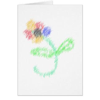 florezca los artes abstractos tarjeta