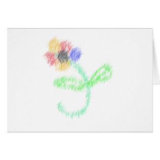 florezca los artes abstractos tarjeton