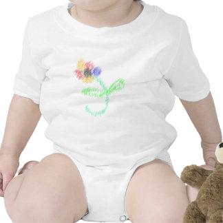 florezca los artes abstractos trajes de bebé