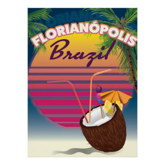 Florianópolis Brazilian travel poster