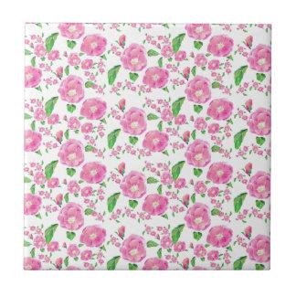 Floribunda Ditsy Rose Tile