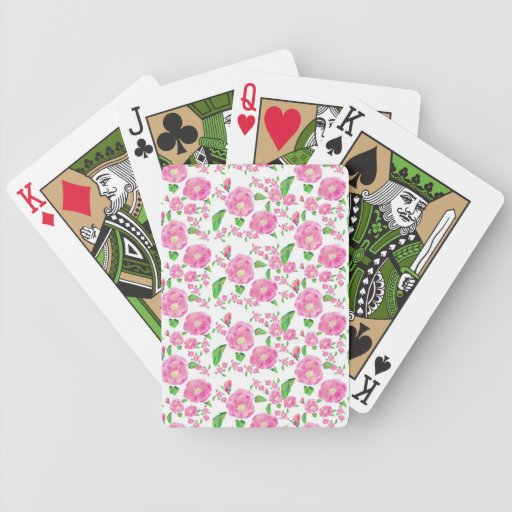 Floribunda Ditsy subió Baraja Cartas De Poker
