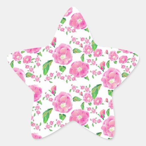 Floribunda Ditsy subió Pegatina En Forma De Estrella