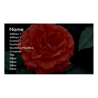Floribunda hermoso tarjetas de negocios