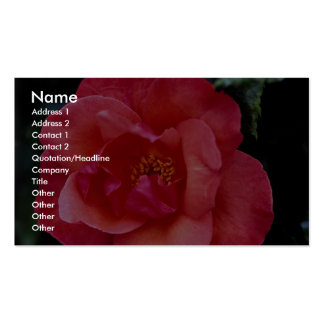 Floribunda hermoso plantillas de tarjetas de visita