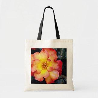 Floribunda 'Orangeade' White flowers Budget Tote Bag