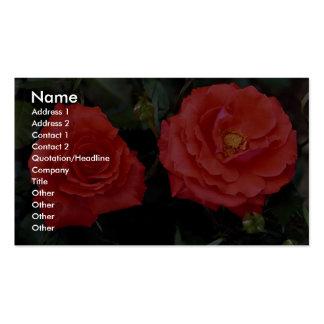 Floribunda precioso tarjeta personal