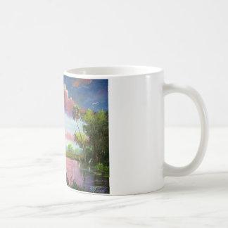 Florid Wild Blue Herons Coffee Mug