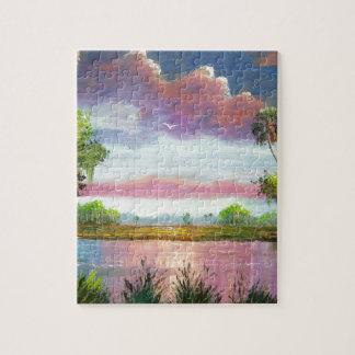Florid Wild Blue Herons Jigsaw Puzzle