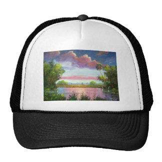 Florid Wild Blue Herons Mesh Hats