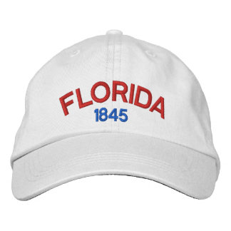 Florida 1845 Personalized Adjustable Hat