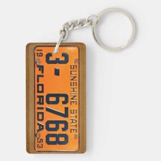 Florida 1953 Vintage License Plate Keychain Acrylic Keychain