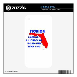 Florida #1 Source for Weird News Skin For The iPhone 4