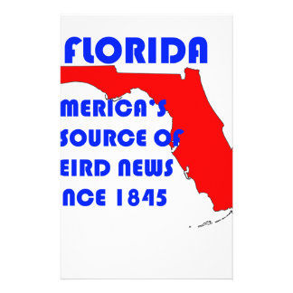 Florida #1 Source for Weird News Stationery