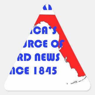 Florida #1 Source for Weird News Triangle Sticker