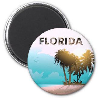 Florida 2 Inch Round Magnet