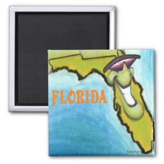 Florida 2 Inch Square Magnet