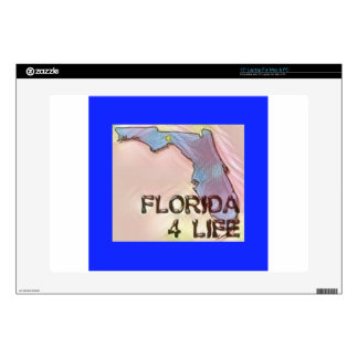 """""""Florida 4 Life"""" State Map Pride Design Decals For 15"""" Laptops"""