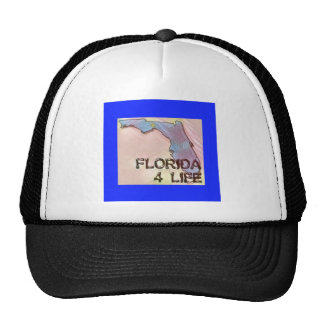 """Florida 4 Life"" State Map Pride Design Trucker Hat"