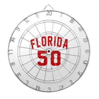 Florida 50 Birthday Designs Dart Boards